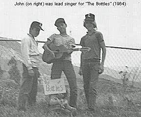 John's junior high school band, The Bottles