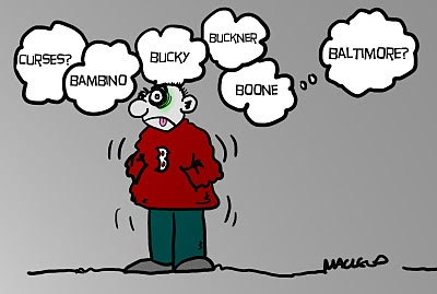 "Macleod's cartoon 9-27-11 ""Boston's Thoughts Turn to Curses Old and New"""
